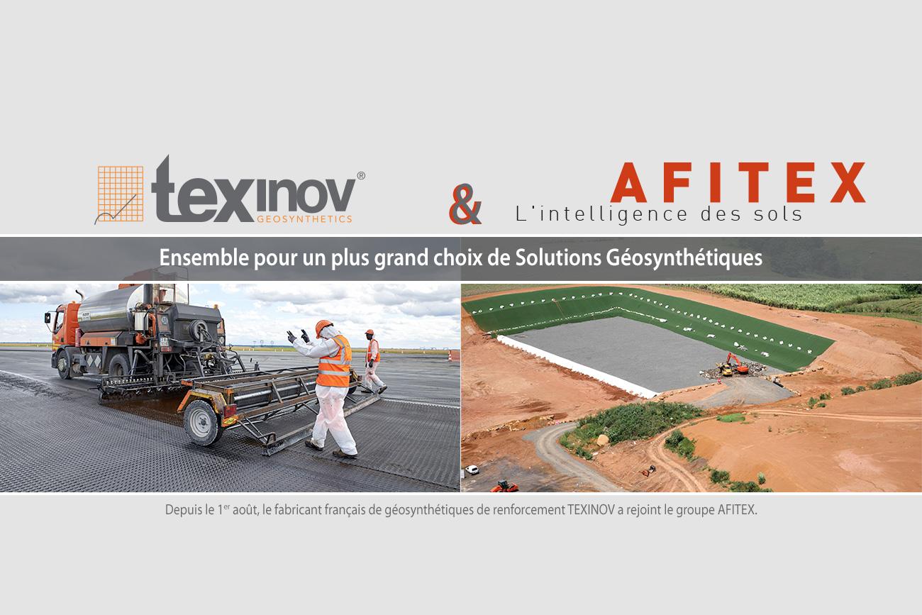 Texinov & Afitex - Ensemble pour un plus grand choix de solutions géosynthétiques