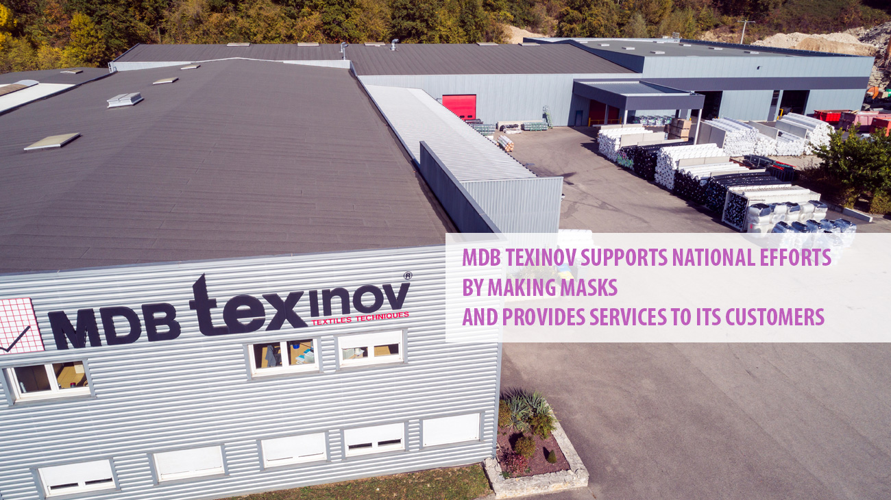 COVID-19 : MDB Texinov supports national efforts by making masks and provides services to its customers