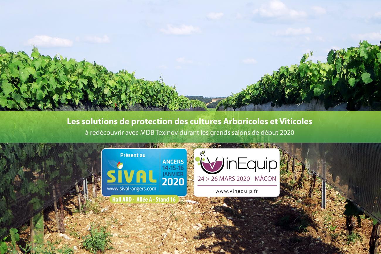 Présence salons agricoles 1er trimestre 2020 de MDB Texinov : SIVAL et Vin'Equip